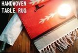 【SALE】ネイティブ柄 手織りオリジナルラグマット