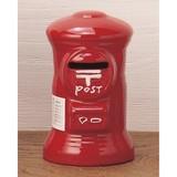 <激レア  ポストグッズ大集合!!「郵政グッズ」>ポスト型貯金箱 赤ミニ(10.5cm)