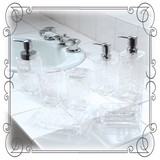 Clear Pattern Miscellaneous goods Clear Rose White