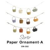 小さな傘やカゴ、帽子などがついたナチュラルな装飾シリーズ【ソルティール・ペーパーオーナメント・A】