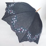【晴雨兼用】長傘/綿麻 刺繍