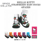 ■2016SS 新作■ HELLO KITTY STRAWBERRY SOCKS 6PAIRS