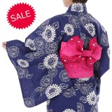 【SALE】2016年新作婦人浴衣『八重ひまわり』(単品・セット)花火大会・お祭り