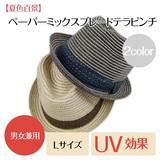 【夏色百景】ペーパーミックスブレードテラピンチ<男女兼用・UV対策・Lサイズ・浴衣・ペーパー/天然>