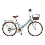 (直送品)<自転車>低床フレーム 24型折畳自転車 シンプルスタイル EUROPA
