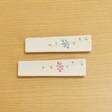 野花 スリム箸置珍味入 (水色/ピンク)