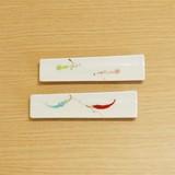 瓢つなぎ/唐辛子 スリム箸置珍味入