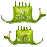 """パーティーバルーン 風船 """"お誕生日おめでとう"""" HAPPY BIRTHDAY スネークケーキ norTH STAR BaLLoons"""