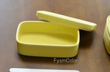 【白山陶器】【CONTE(コンテ)】【ロング・黄色】【波佐見焼】14.5×8.8cm  高さ5.5cm 570g