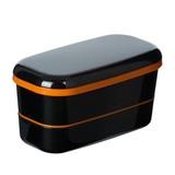 ブラックカラー2段ランチボックス(黒) / 弁当箱