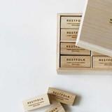 【春夏新作】[防虫剤]カンフルツリー ブロック 24pc W/ウッドケース Made in Japan