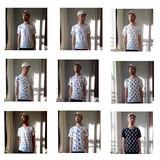 【SALE】オリジナル総柄VネックTシャツ