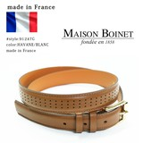 【MAISON BOINET】メゾンボワネ#91247G  フランス製 本革ベルト