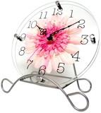 【直送可】新生活応援 アートフラワークロック 置き掛け兼用時計  【日本製】