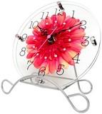 【直送可】新生活応援 アートフラワークロック 掛け置き兼用時計【日本製】