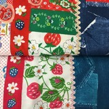 【生地】mi-Ya☆Strawberry patch Fabric