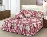 【直送可】【送料無料】イタリア製ベッドカバーローズピンク(ローズデザイン)