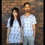 【2月後半〜3月頭発売】オリジナル総柄相撲VネックTシャツ
