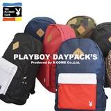 【国内生産 国内ライセンス】PLAYBOY ナイロン リュック バッグ 鞄 カバン ワンポイント  ねこ
