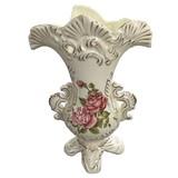 ロココ調セラミカ薔薇の花瓶