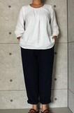 【人気定番】日本製 スラブWガーゼ テーパードパンツ №47052