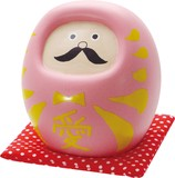 よくばりダルマ 貯金箱 ピンク