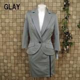 【春物スーツ】綿混七分袖♪ミニスカートスーツ