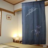 のれん:菖蒲【和風】【植物モチーフ】