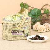 【母の日】【Basket】Flower セイロングリーンティー(茶葉100g入り)【フレーバーティー】