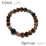 【タイガーアイ】 天然石 ブレスレット/富貴・仕事・忍耐 /ブラックタイガーアイ/ブルーオパール