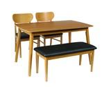 【直送可】【シープ】ベンチダイニング4点セット ダイニングテーブル (120cm幅/4人掛け用)
