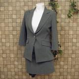 七分袖テーラードジャケット&ミニスカートスーツ