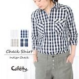 【SALE】コーディネートを爽やかにするキャンバスチェックシャツ