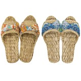 【Summer slippers】ガマスリッパ 総柄リボン