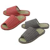 【Summer slippers】イグサスリッパ ストライプ