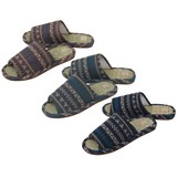 【Summer slippers】イグサスリッパ ネイティブ柄(L)