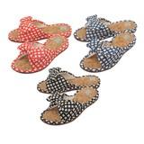 【Summer slippers】スリッパ コルクチェック(M)