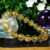 【30%OFF】【天然石ブレスレット】5A級ルチルクォーツ(針水晶)(10mm)ブレス 【天然石 ルチル】