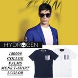 ◆お買い得春夏商材◆★最終処分★HYDROGEN ハイドロゲン ボタニカル×ストライプ Tシャツ<ラスト2点>
