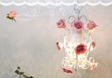 先行受注6月下旬入荷【Tendre タンドル】1灯シャンデリア/ホワイト(OF-010/1)