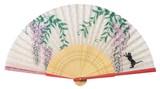◇夏商品 扇子袋付【藤と猫】(21cm)