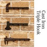 Cast Iron Triple Hook Tool Iron Miscellaneous goods