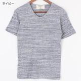 引き揃えMIXカラー杢フライス Vネック半袖Tシャツ