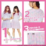 ネオグラフィックセーラー服×Little Twin Stars pink