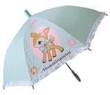 【サンリオ】【キッズ傘】ハミングミント50cmジャンプ傘フリル付き(適応身長:115〜125cm)