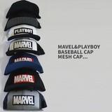 【当社生産 国内ライセンス】【春夏新作】MARVEL PLAYBOY キャップ 帽子 メッシュ ディズニー アイアン
