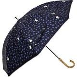 【moomin】【雨傘】長傘 遮光ムーミン草原柄バンブー手
