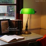 先行受注6月下旬入荷【Laurent ローラン】1灯卓上ランプ/グリーン(OF-027-1T-GR)