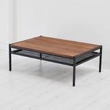 天然木製リビングテーブル L PT-950BRN