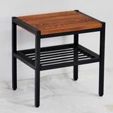 天然木製サイドテーブル PT-400BRN 店舗什器